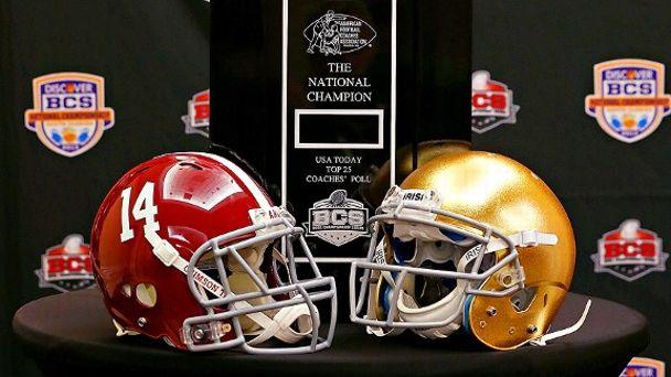 Alabama/Notre Dame Helmets