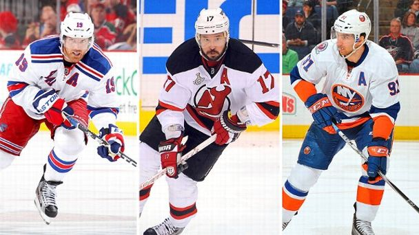 Brad Richards, Ilya Kovalchuk and John Tavares