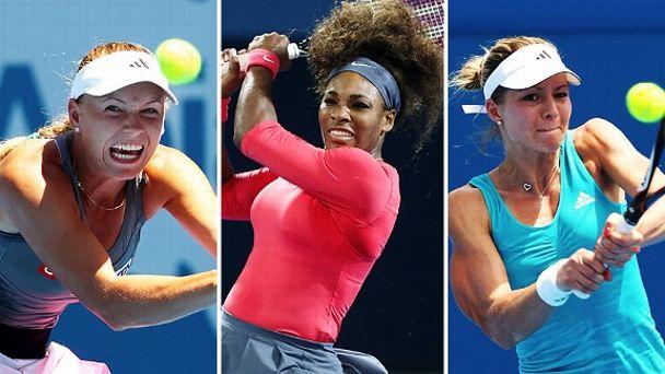 Caroline Wozniacki, Serena Williams and Maria Kirilenko