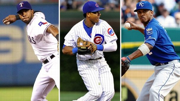 Elvis Andrus, Starlin Castro, Alcides Escobar