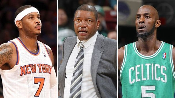 Carmelo Anthony, Doc Rivers, Kevin Garnett