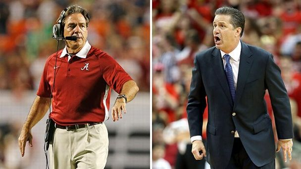 Nick Saban, John Calipari