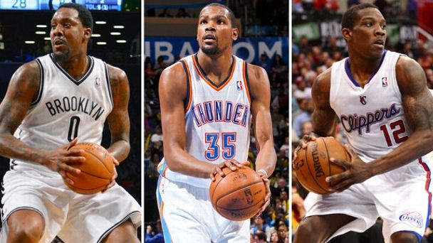 Andray Blatche, Kevin Durant, Eric Bledsoe