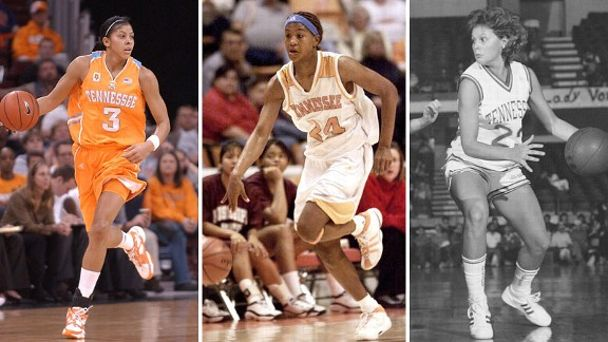 Candace Parker, Tamika Catchings and Shelley Sexton Collier