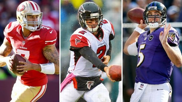 Colin Kaepernick, Matt Ryan, Joe Flacco