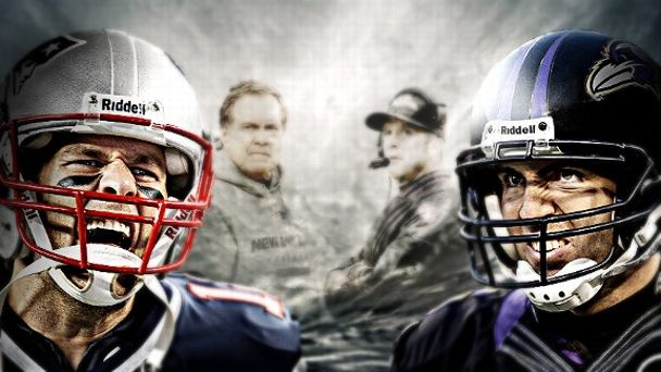 AFC Championship illustration, Baltimore Ravens vs. New England Patriots