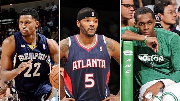 Rudy Gay, Josh Smith and Rajon Rondo