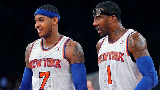 Carmelo Anthony and Amar'e Stoudemire
