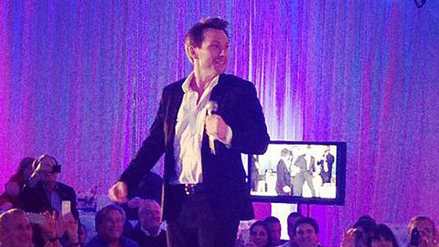 Christian Slater Sang 'The Heat Is On' at a Miami Heat Charity …