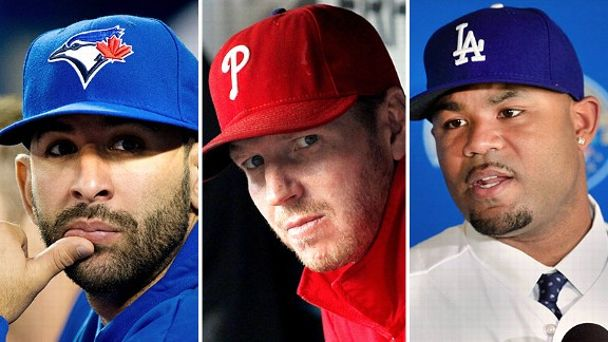 Jose Bautista, Roy Halladay & Carl Crawford