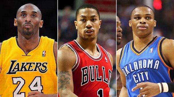 Kobe Bryant, Derrick Rose & Russell Westbrook