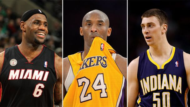 LeBron James, Kobe Bryant, Tyler Hansbrough