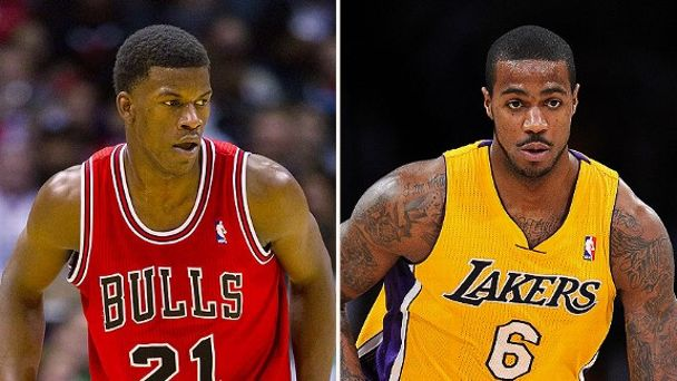 Jimmy Butler and Earl Clark