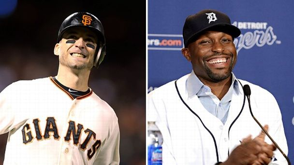 Marco Scutaro and Torii Hunter