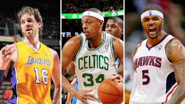 Pau Gasol, Paul Pierce and Josh Smith