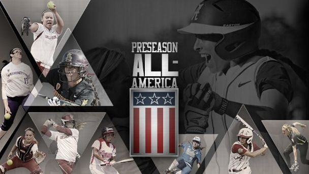Preseason All-America Softball Illustration