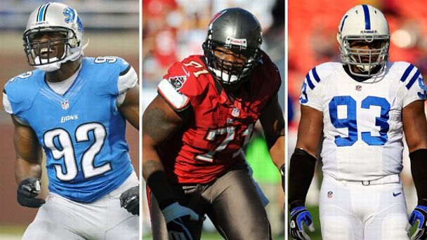 Cliff Avril, Michael Bennett, Dwight Freeney