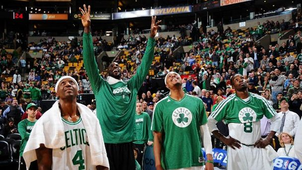 Jason Terry, Kevin Garnett, Paul Pierce, Jeff Green
