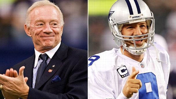 Jerry Jones and Tony Romo
