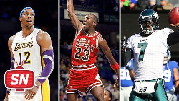 Dwight Howard, Michael Jordan and Michael Vick