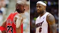 "Anyone else intrigued by the ""Who would have won a ONE ON ONE game in their prime, MJ or LBJ"" debate?"