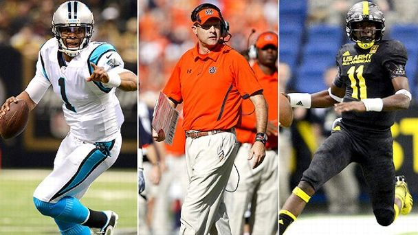 Cam Newton, Gus Malzahn, Jeremy Johnson