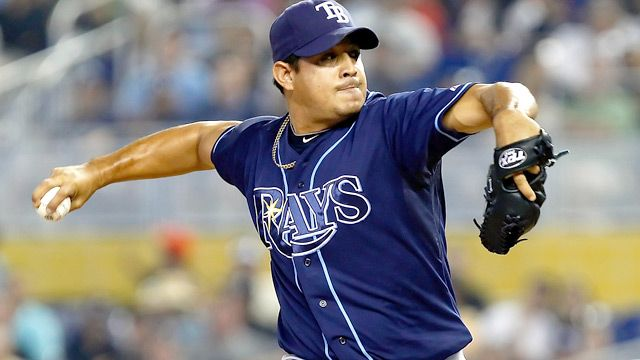 Looks Like Rays Pitcher Joel Peralta Got His Neck Injury ... TO…
