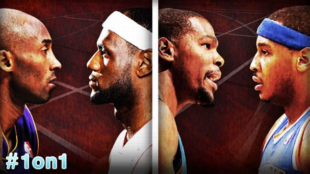 LBJ v Kobe and KD v Melo