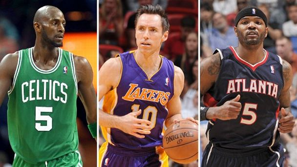Kevin Garnett, Steve Nash and Josh Smith