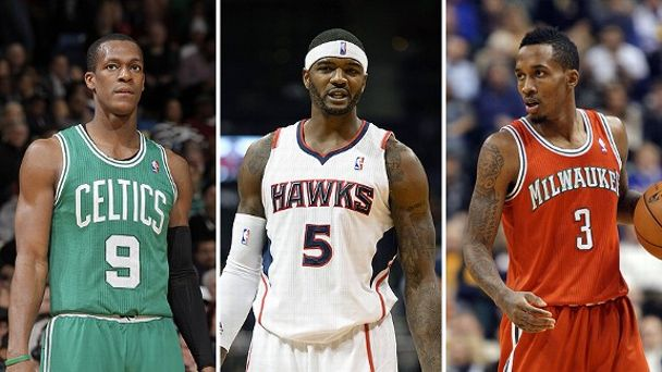 Rajon Rondo, Josh Smith and Brandon Jennings