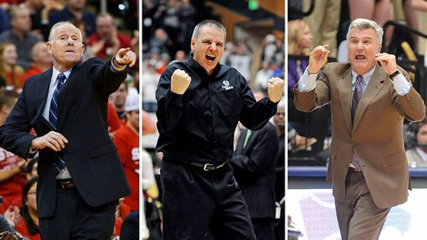 Jim Larranaga, Larry Eustachy and Bruce Weber