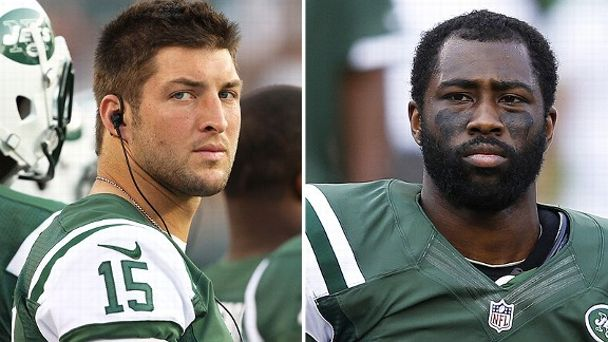 Tim Tebow and Darrelle Revis