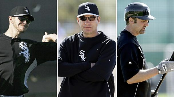 Chris Sale, Robin Ventura, and Paul Konerko