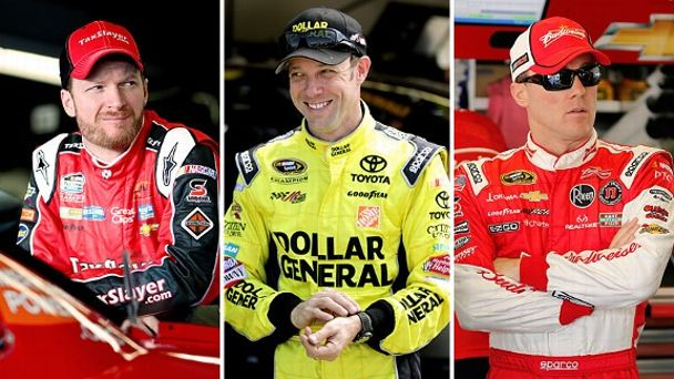 Earnhardt, Kenseth, Harvick