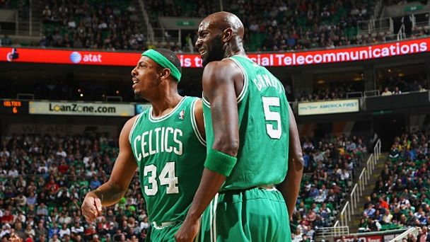 Paul Pierce and Kevin Garnett