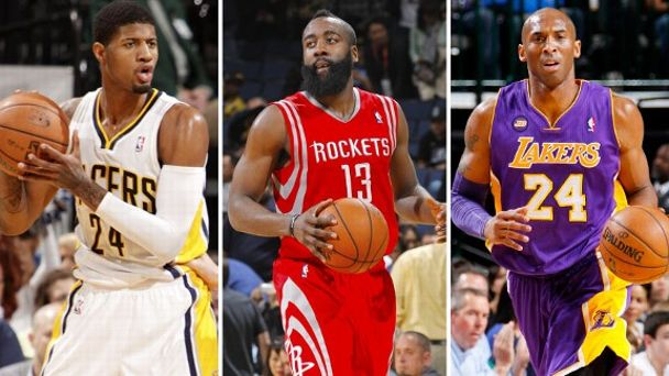 Paul George, James Harden, Kobe Bryant