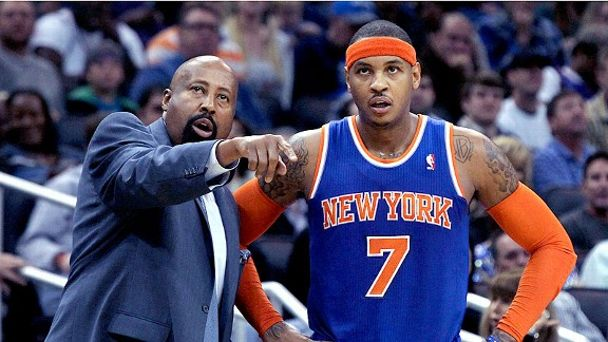 Mike Woodson and Carmelo Anthony