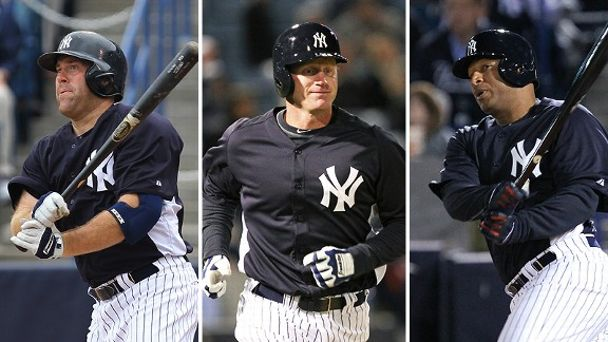 Vernon Wells, Lyle Overbay and Kevin Youkilis