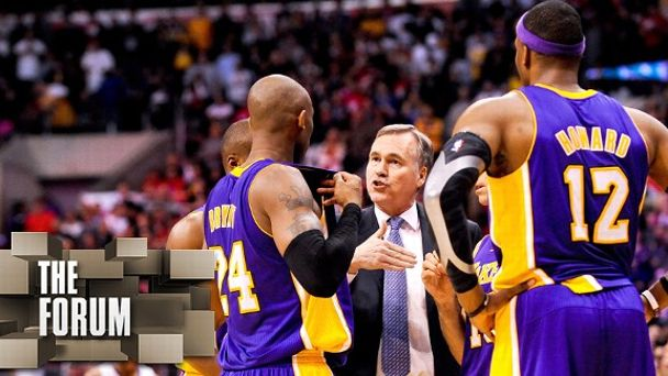 Kobe Bryant, Mike D'Antoni & Dwight Howard
