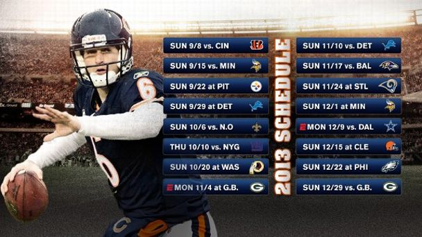Chicago Bears 2013 Schedule Illustration