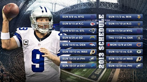 Dallas Cowboys Schedule Illustration