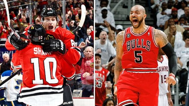 Patrick Kane and Carlos Boozer