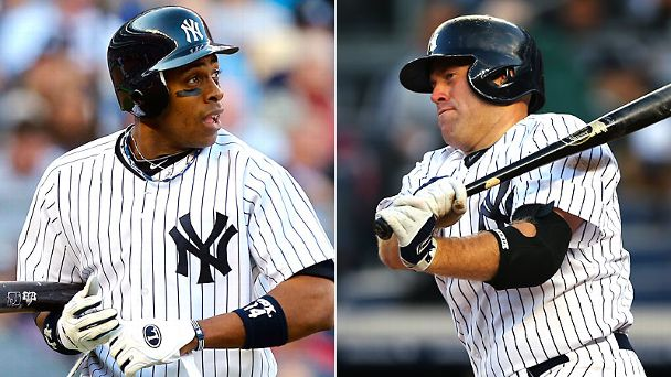Curtis Granderson and Kevin Youkilis