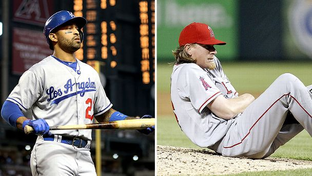 Matt Kemp and Jered Weaver
