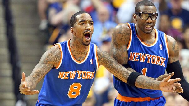 J.R. Smith and Amar'e Stoudemire