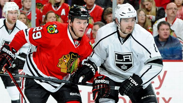 Bryan Bickell and Drew Doughty