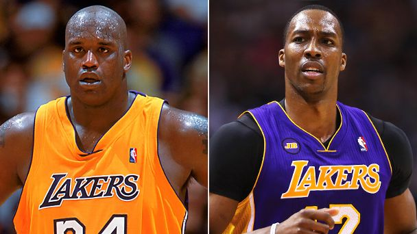 Shaquille O'Neal and Dwight Howard