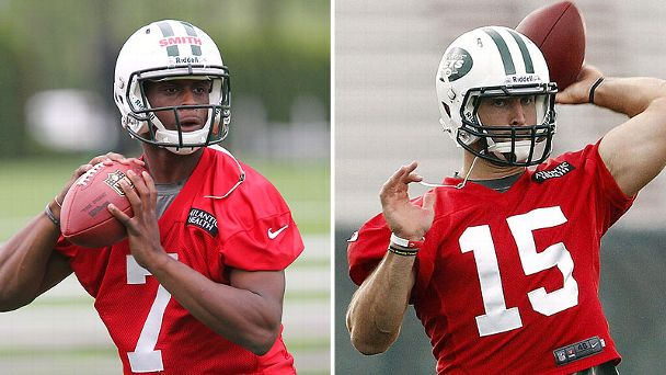 Geno Smith and Tim Tebow