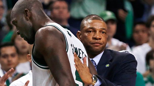 Kevin Garnett and Doc Rivers