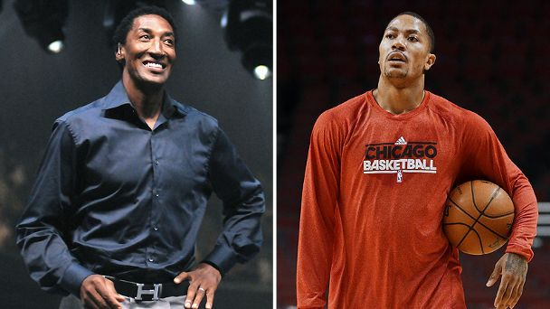 Scottie Pippen and Derrick Rose